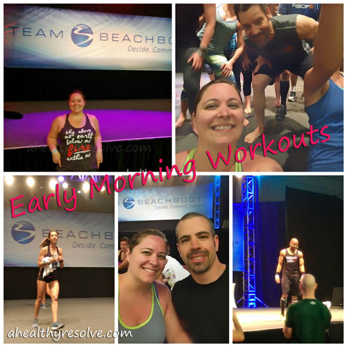Early morning workouts with Shaun T, Tony Horton & Autumn Calabrese - 2015 Success Club Trip