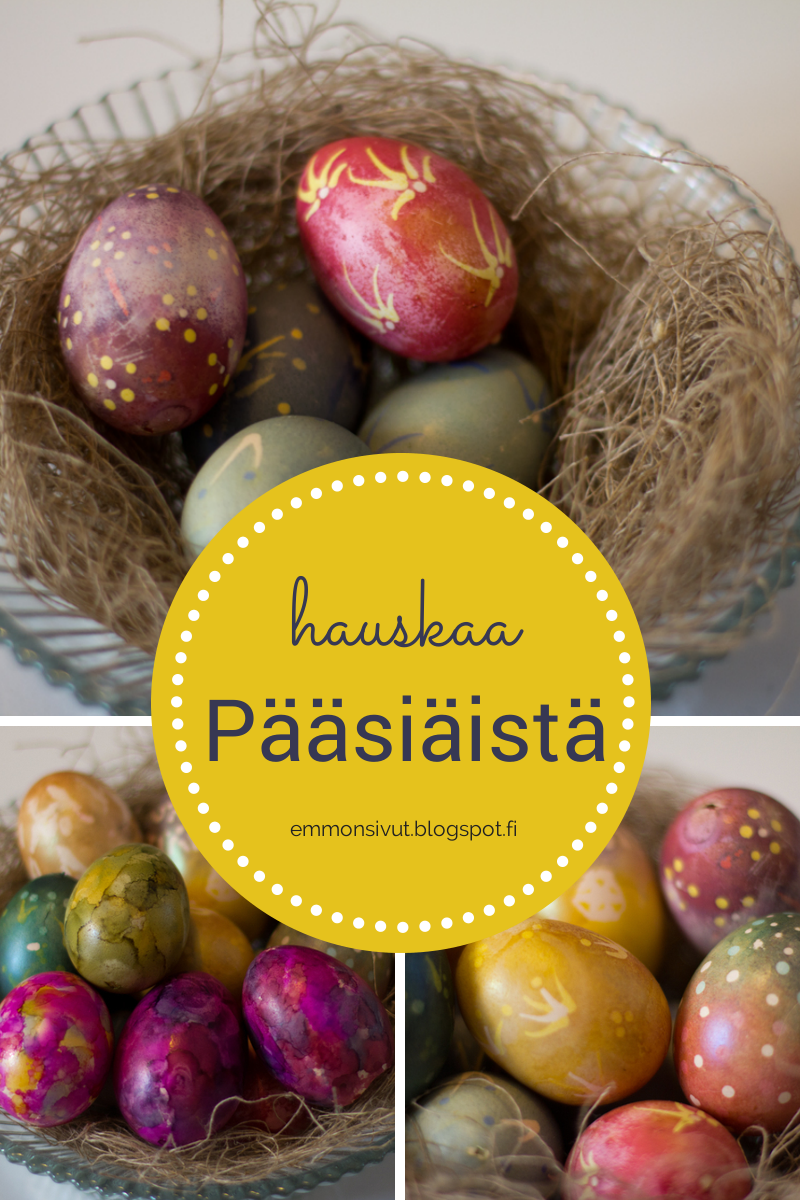 askartelu, askarteluohje, pääsiäinen, munien maalaus