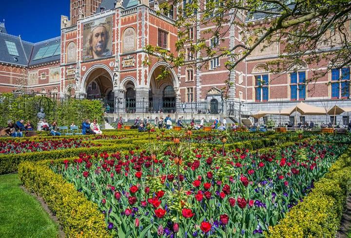 Tulipanes en Festival del Tulipan de Amsterdam