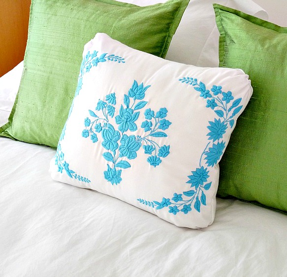 diy embroidered pillow