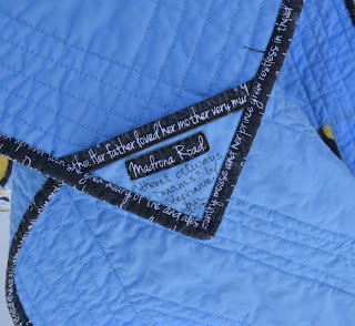 Madrona road quilt label