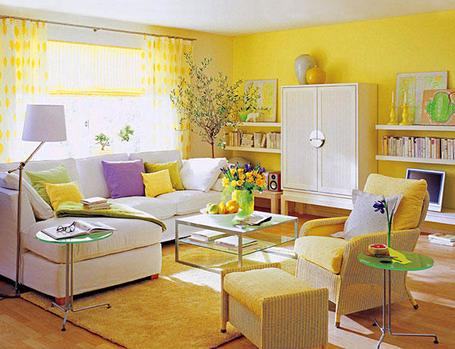 El color comunica amarillo significados del color - Salones con dos ambientes ...