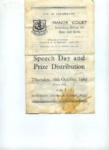 Here is the 1962 Manor Court Speech Day sent by Pam