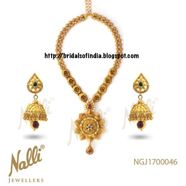 Bhima Jewellery Bands: Fashion World: Wedding Collection -Gold Necklace Along