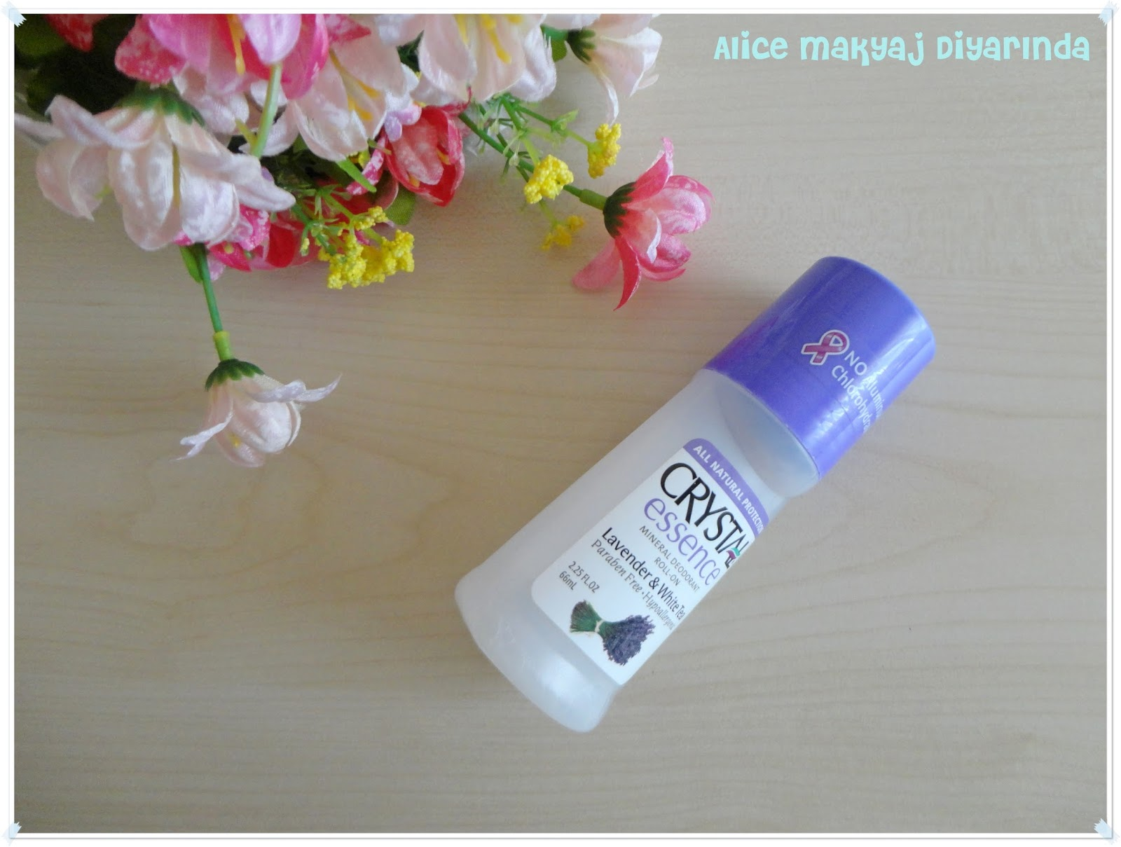 Crystal Essence Mineral Deodorant Roll on- Lavanta
