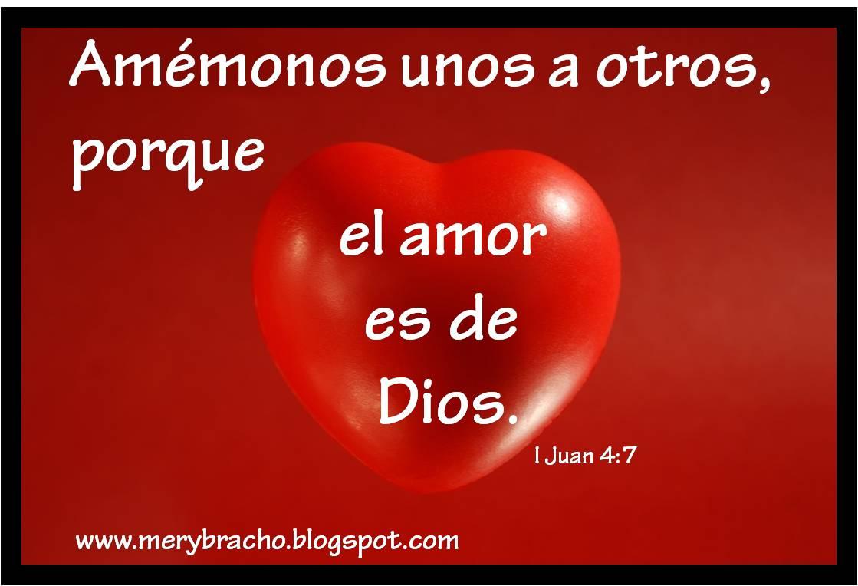 Amémonos, el amor es de Dios