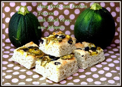 Spicy Garlic and Zucchini Focaccia