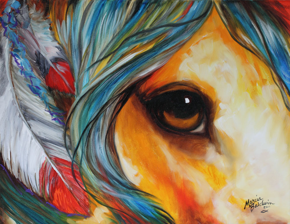 Gallery For gt Colorful Indian Horse Paintings