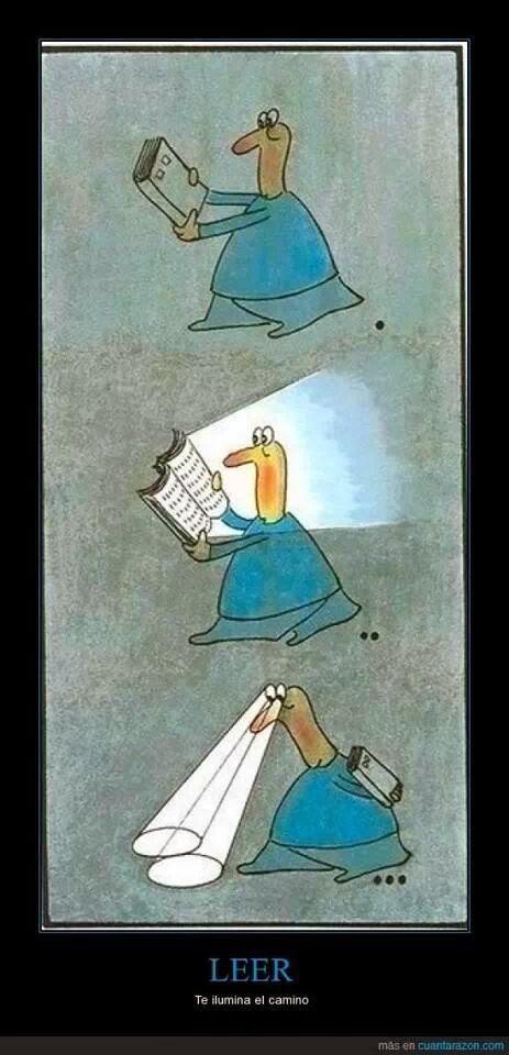 Leer te ilumina el camino