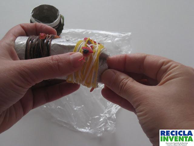 Tutorial Recicla Inventa Servilletero nido de serpientes
