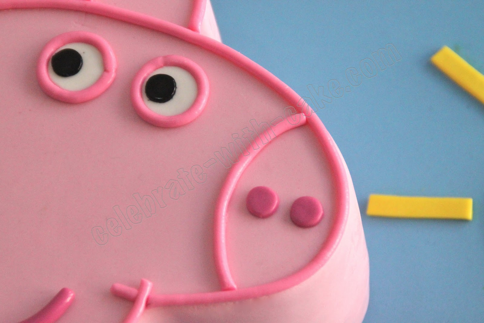 Peppa pig stencil cake ideas and designs for Peppa pig cake template free