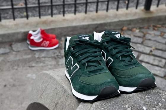 new balance 574 damskie zielone