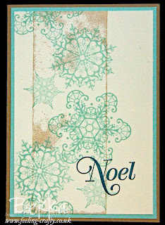 Snowflake Soiree Christmas Card by Stampin' Up! Demonstrator Bekka Prideaux