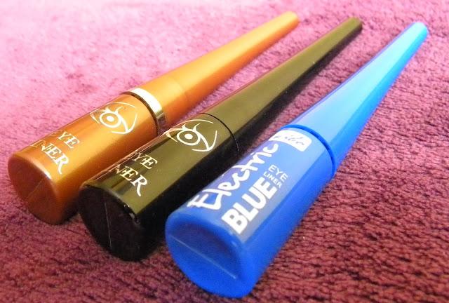 Eye Liner od Wibo, czarny, braz i kobaltowy
