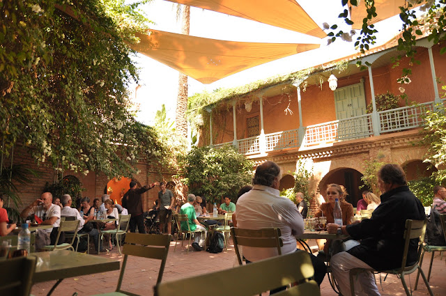 Marrakech Jardin Majorelle garden Cafe Bousafsaf