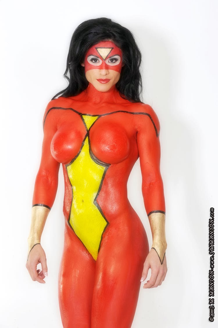Bodypainting - Spider-Woman - Felicia Romero