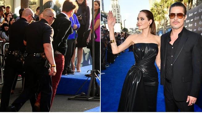 NOTICIA - Un hombre golpea a Brad Pitt durante el estreno de 'Maléfica' en Hollywood