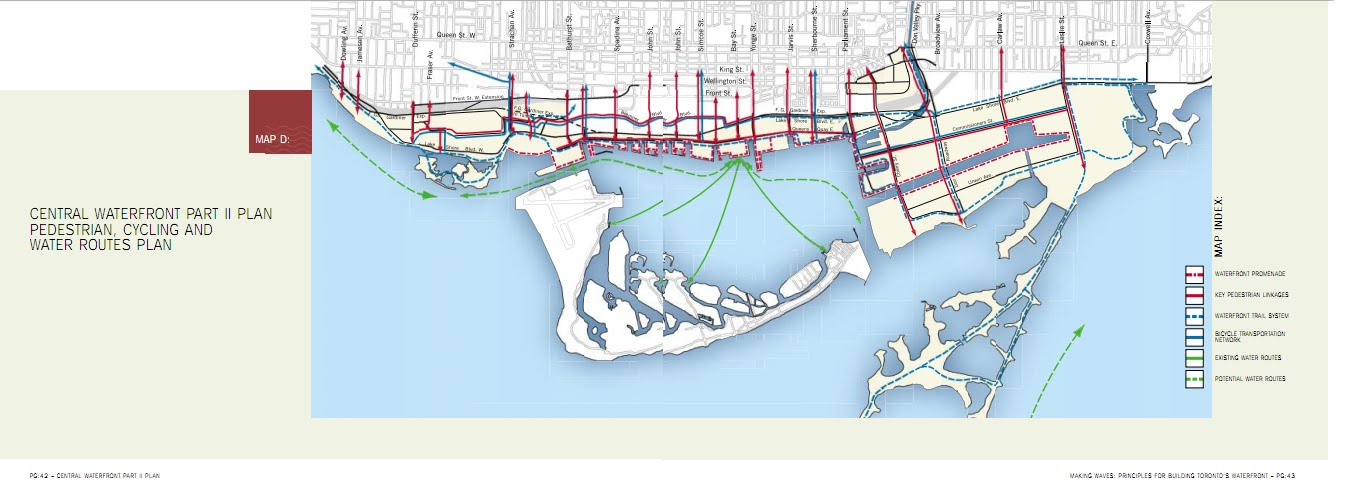 "City of Toronto CENTRAL WATERFRONT PART II PLAN - Map ""D"""