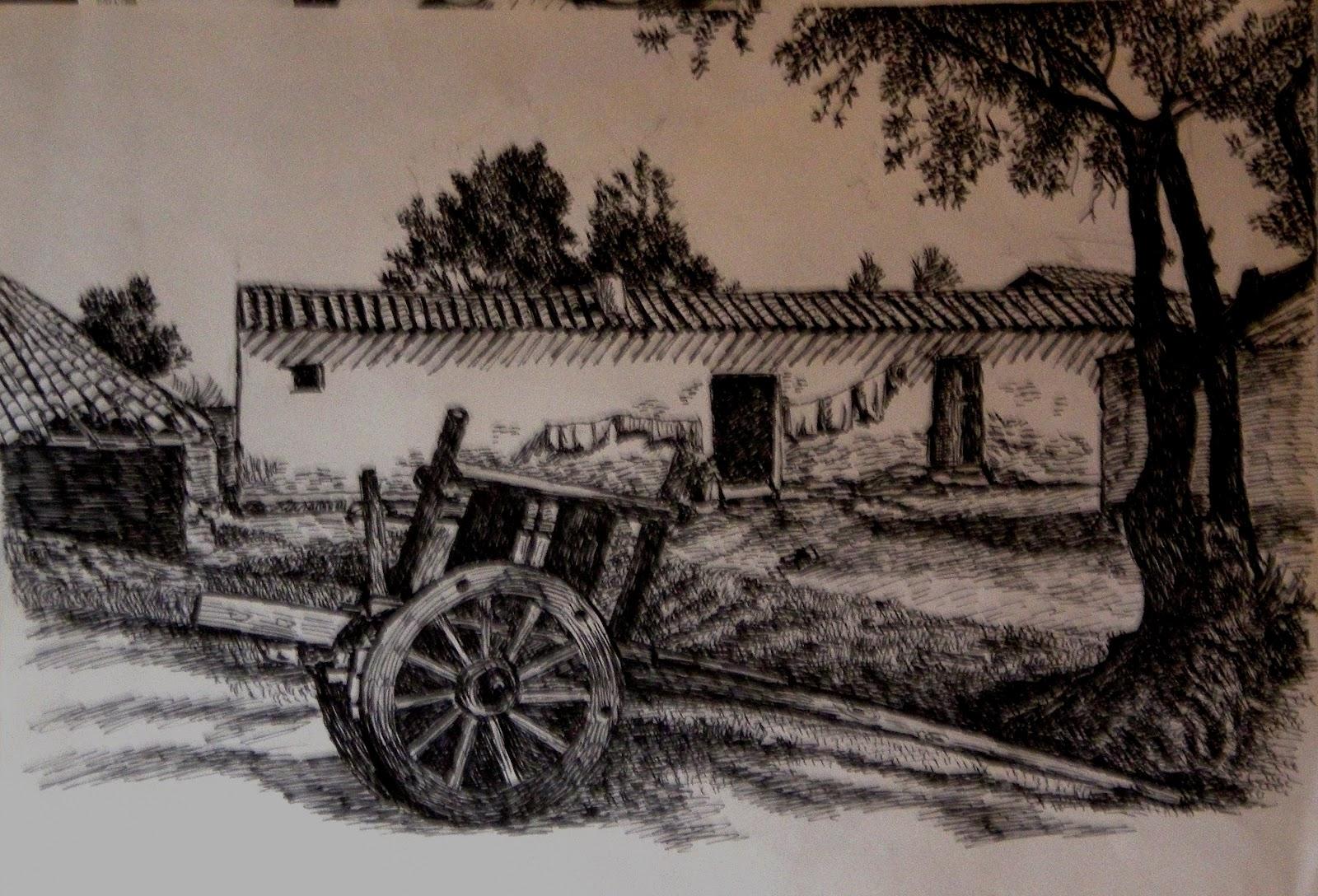 Parole immagini schizzi d 39 inchiostro for Disegni di casa in stile fattoria