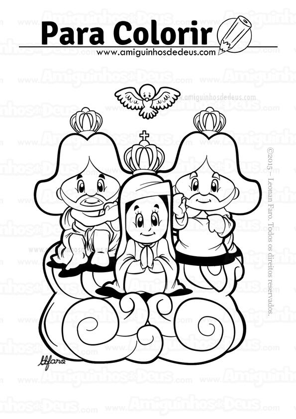 divino pai eterno desenho para colorir