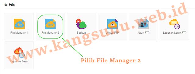 File Manajer di IDHostinger