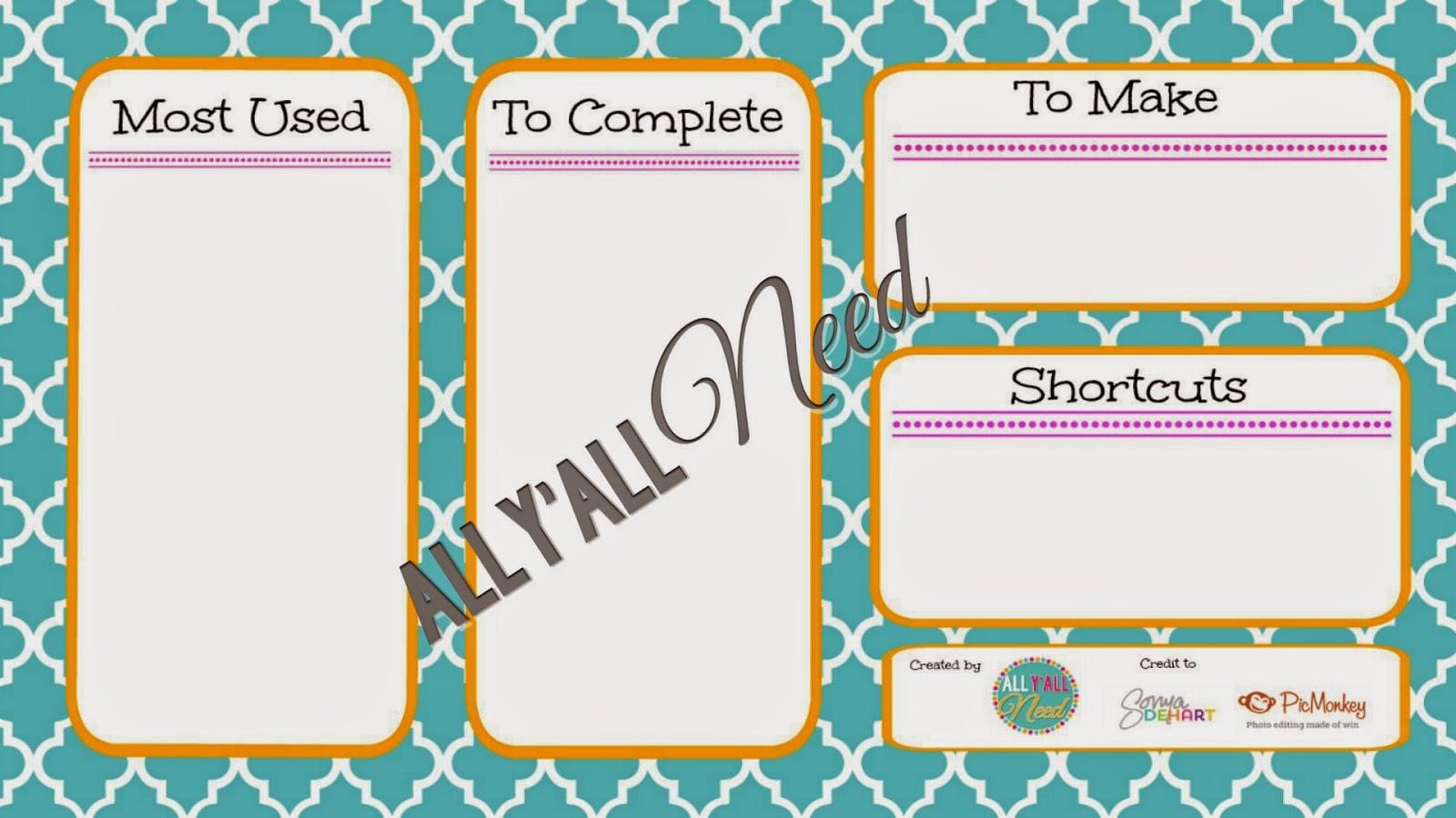 Organization Wallpaper for Desktops {Freebie} by All Y'all Need