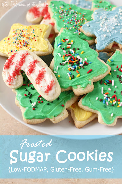 Frosted Sugar Cookies {Low-FODMAP, Gluten-Free, Gum-Free}  /  Delicious as it Looks