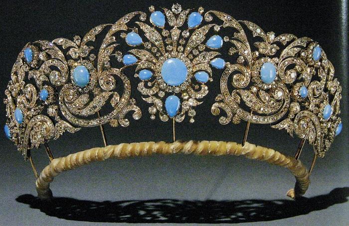 تيجان ملكية  امبراطورية فاخرة Duchess+of+gloucester+alice+tiara+crown+diadem+diamond+turquoise