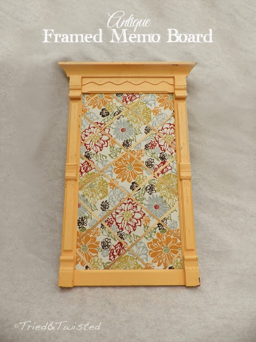 http://triedandtwisted.blogspot.com/2013/07/diy-antique-framed-memo-board.html