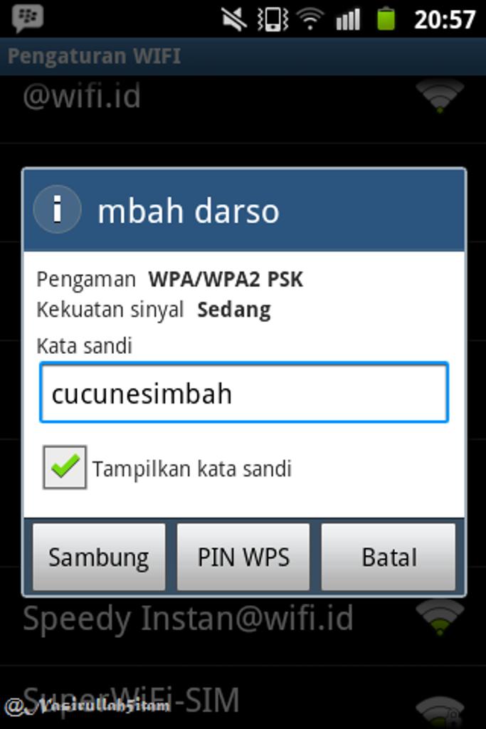 Fasilitas Wifi-nya gratis