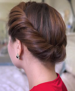 Spring Twist Updo Hair Tutorial for long hair