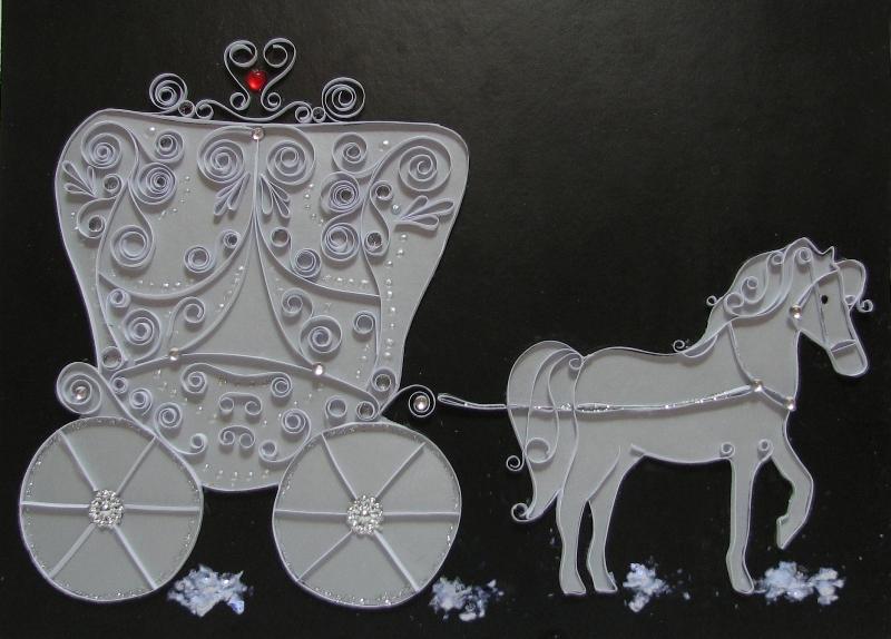 Новогодняя карета из картона своими руками