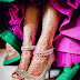 Gold Indian wedding shoes with payal