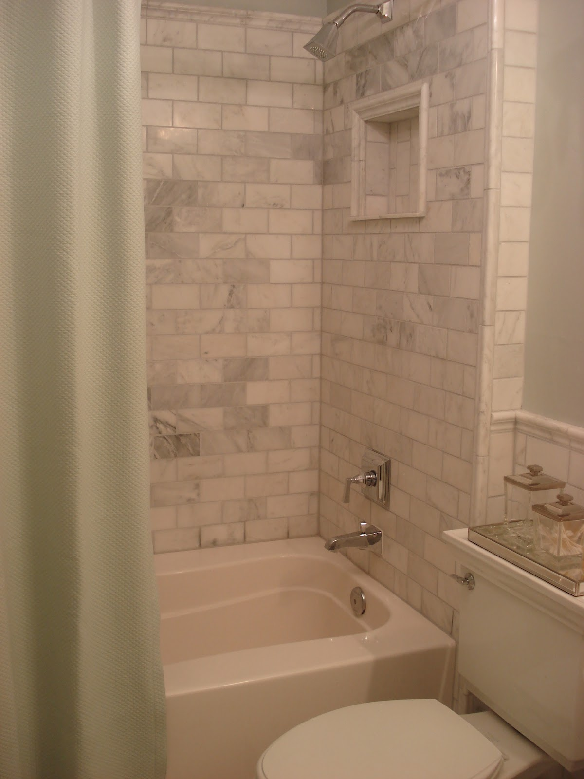 Cool I wrote about the bathroom renovation in July of a few months after it was pleted I loved the final result