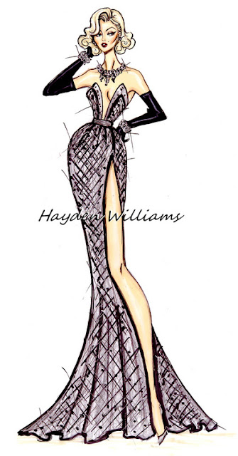 hayden williams fashion illustrator evening dress fashion drawing sketch illustration