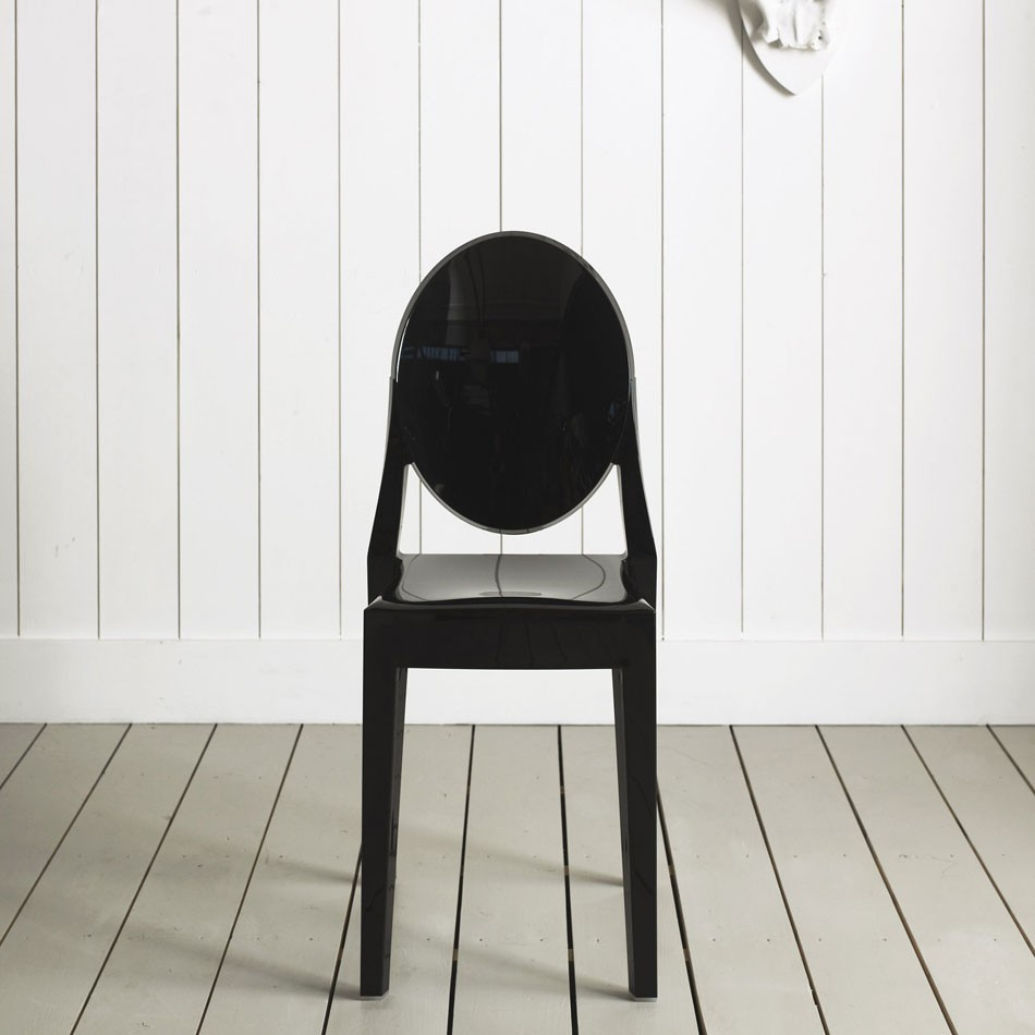 victoria ghost chair black plastic kartell