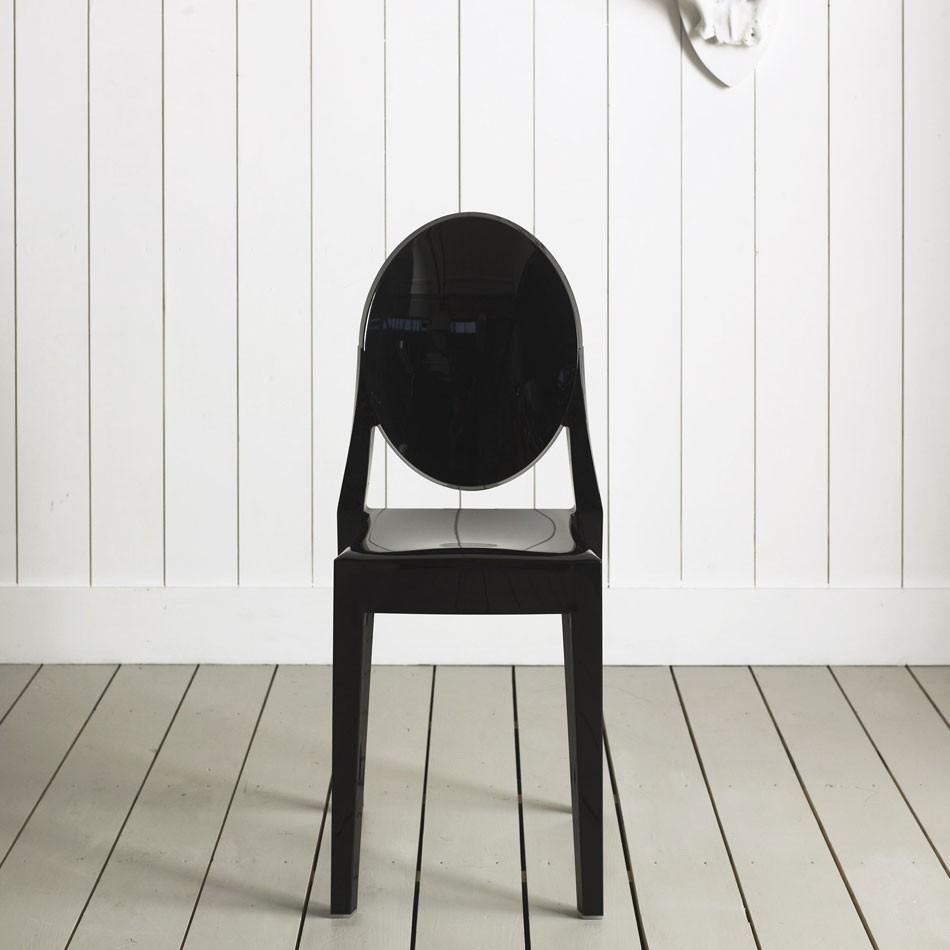 victoria ghost chair black plastic kartell