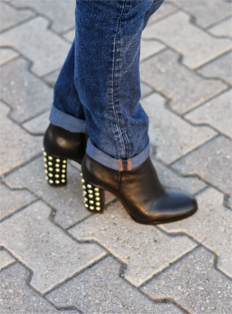 Michael Kors Linden booties, stivaletti con borchie sul tacco, Fashion and Cookies, fashion blogger