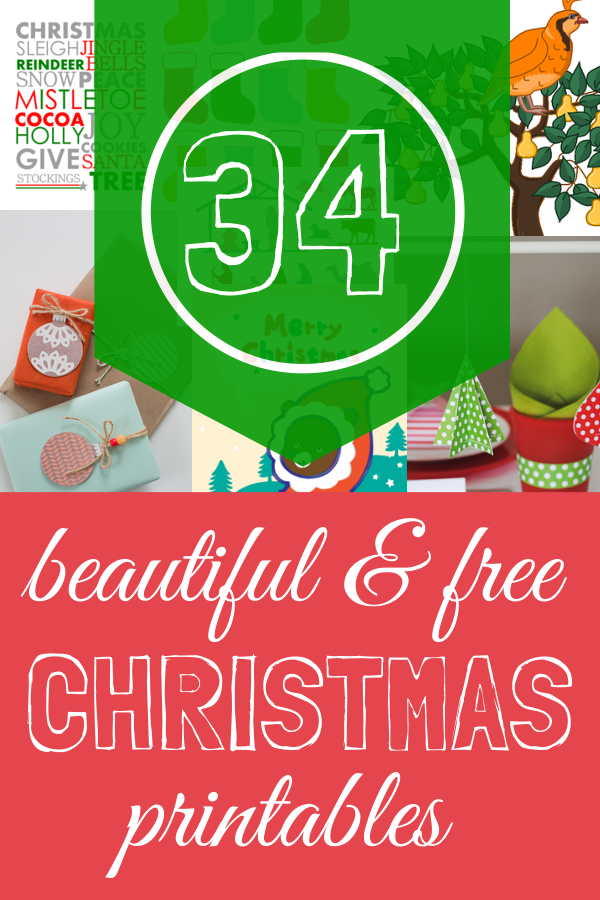 34 Free Christmas Printables - A Thrifty Mrs