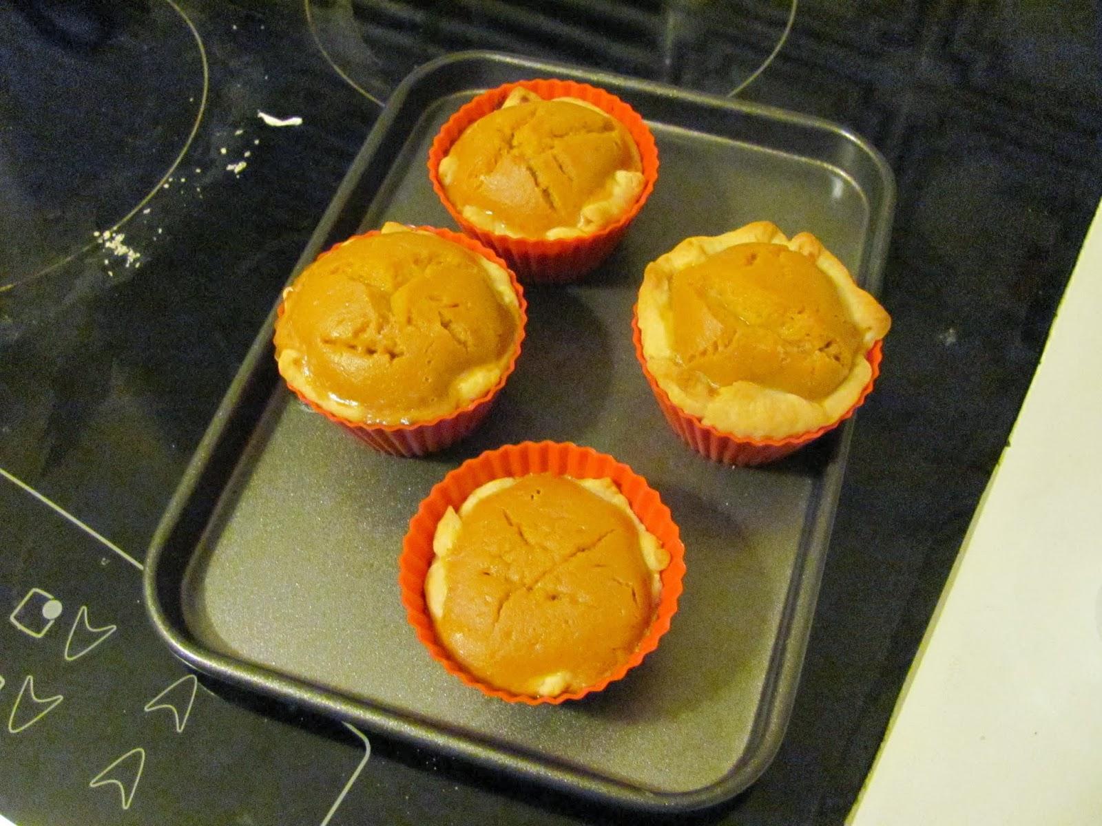 Mini pumpkin pies in Dublin Ireland Thanksgiving 2013
