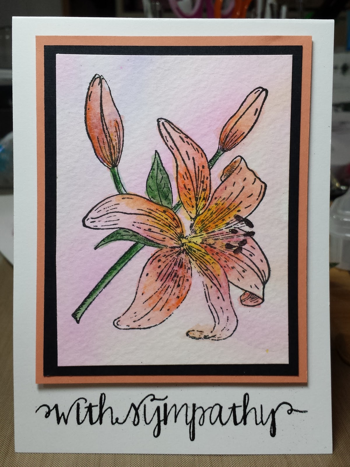 online card classes, watercolor, Stampendous