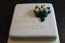 Simple Elegant Birthday Cake