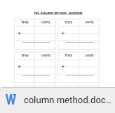 column addition worksheets