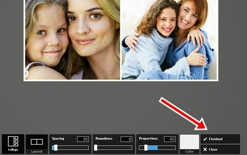Agrupando as duas fotos