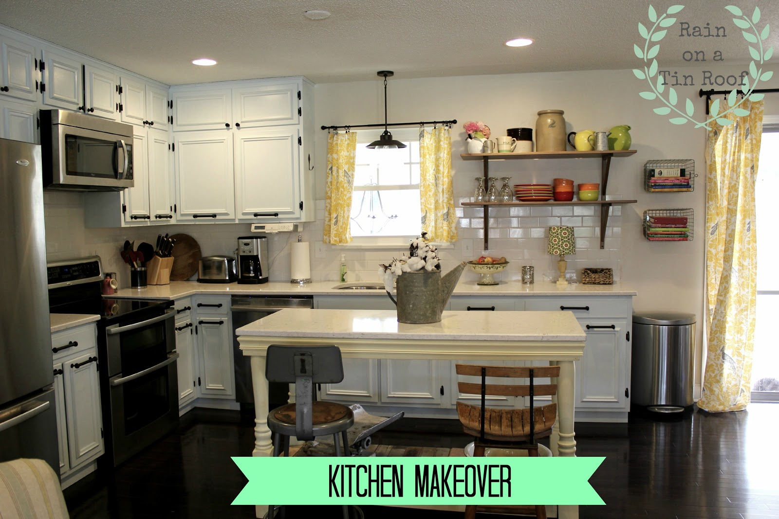 Attractive Kitchen Makeover {rainonatinroof.com} #kitchen #makeover #re Model # Great Ideas