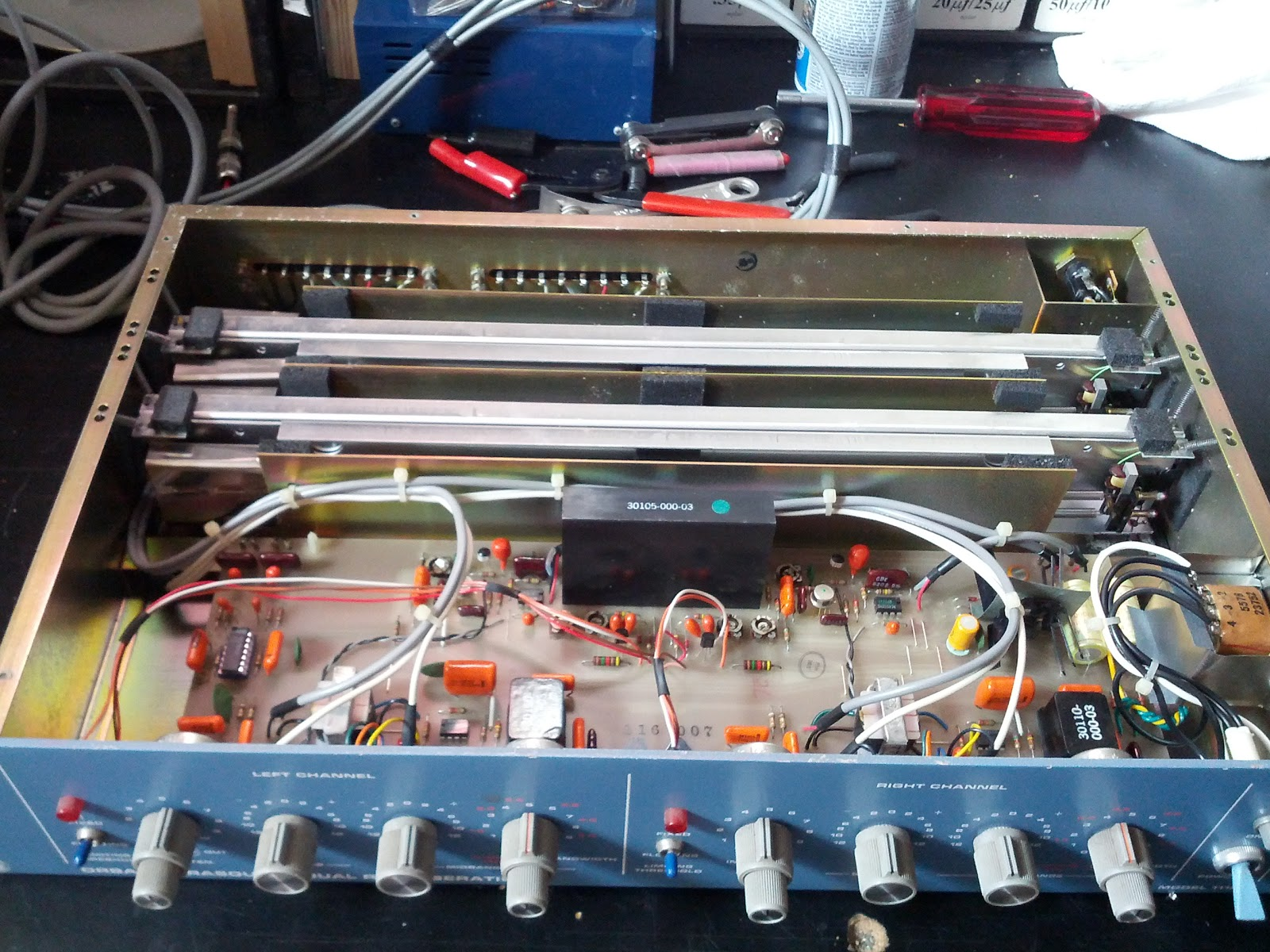 Orban 111b Spring Reverb Parasound Dual Reverberation Youth Schematic This Unit Came To The Bench With Left Channel Not Passing Signal And Right Sounding A Little Uninspired Diagnose