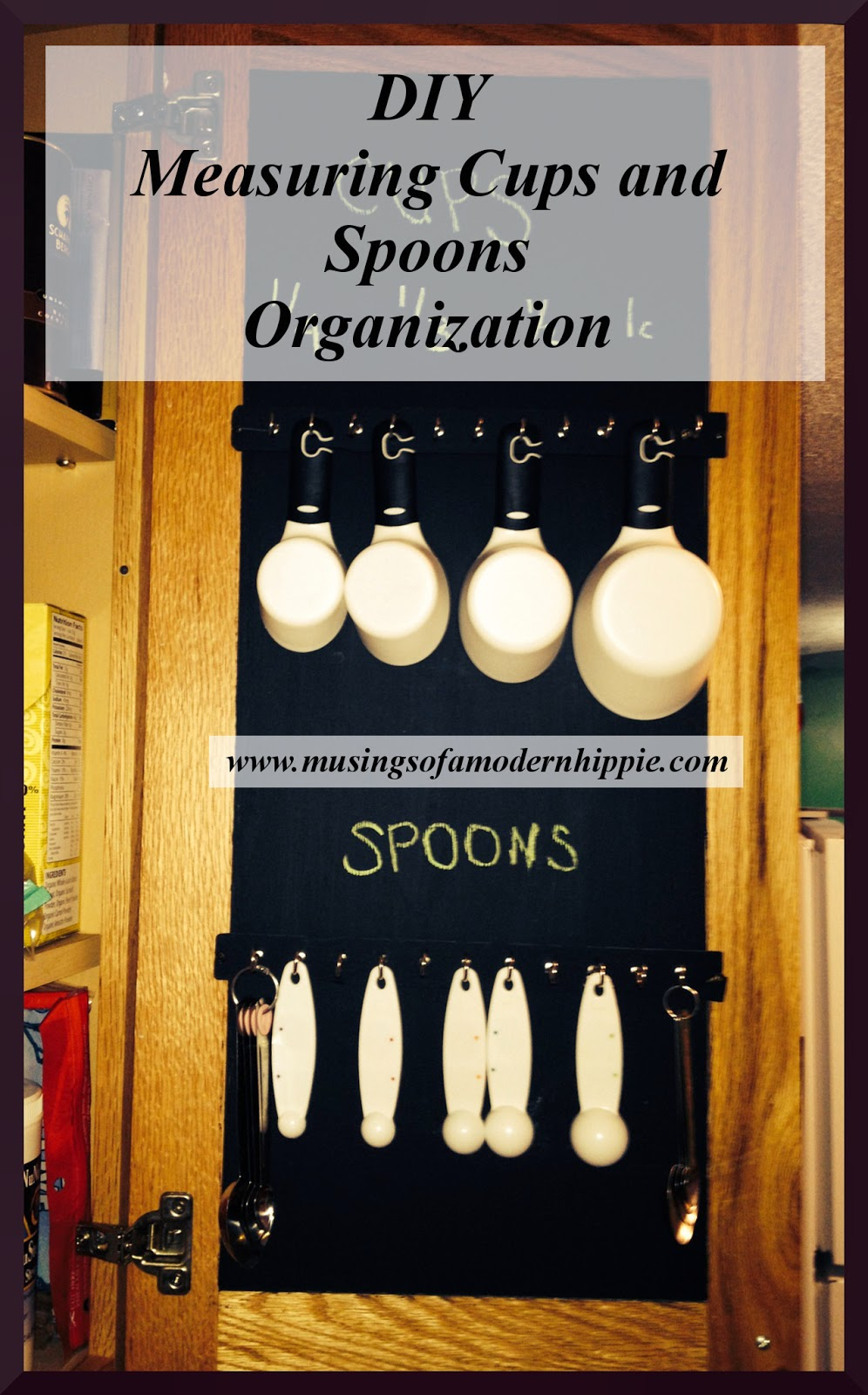 DIY Measuring Cup and Spoon Organizer | Musings of a Modern Hippie