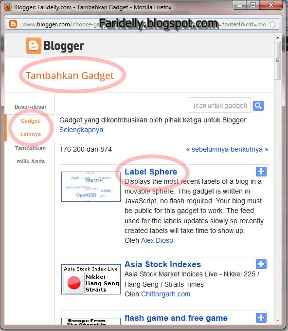 membuat label bergerak blogumulus tanpa html java script