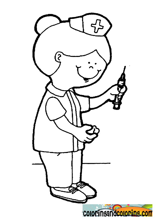 nurse coloring pages - photo#13