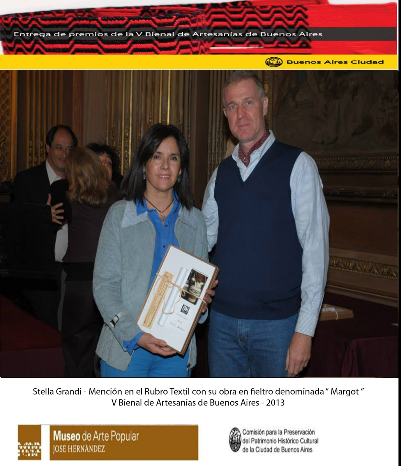 V BIENAL DE ARTESANIAS DE BUENOS AIRES 2013: ENTREGA DE PREMIOS